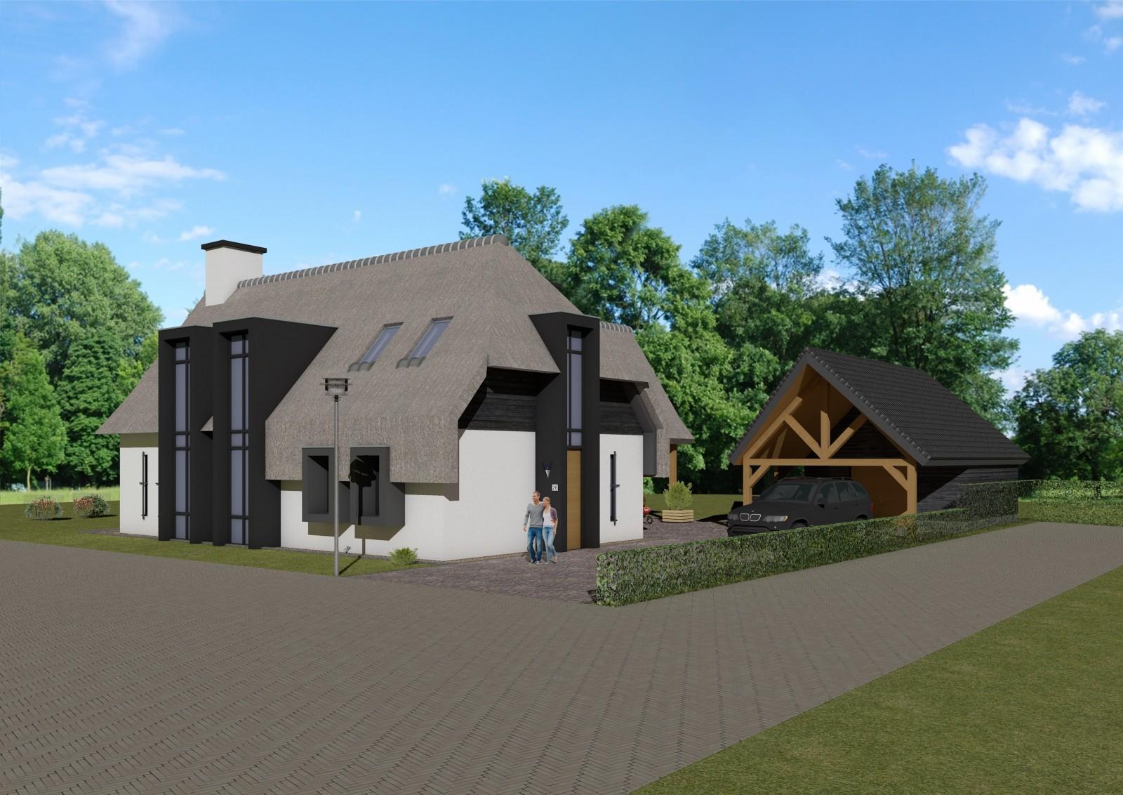 Nieuwbouw moderne landelijke woning bouwkundig tekenburo donkers relou - Zeer moderne woning ...